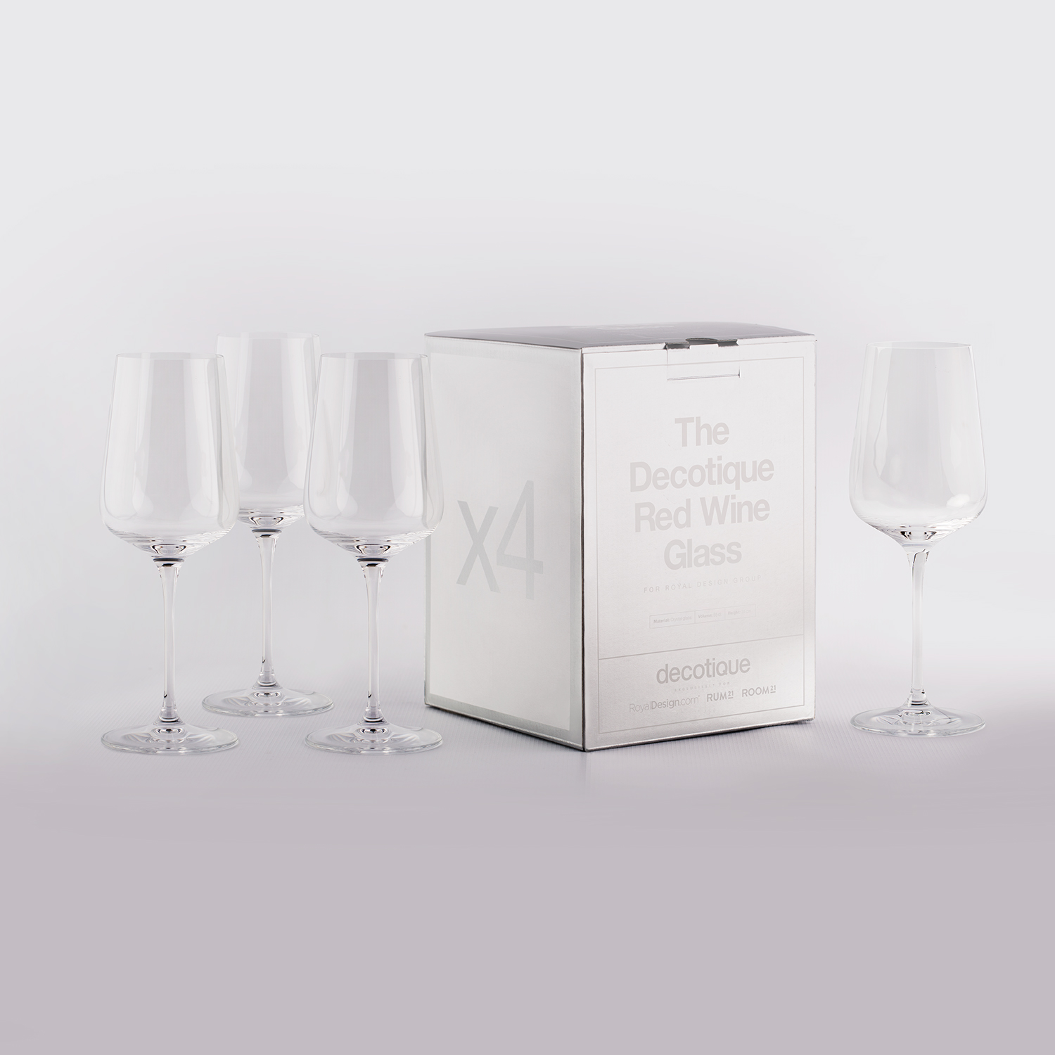 Decotique rødvinsglas, 4-pack