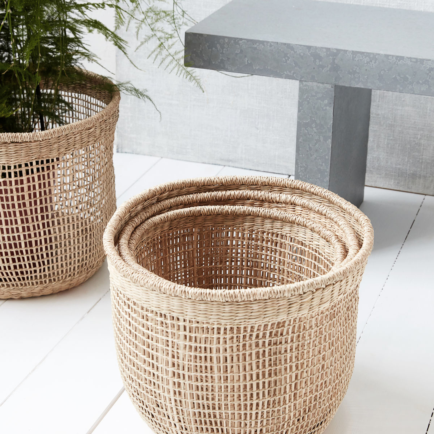 Shape baskets kurve 3-dele S, natur