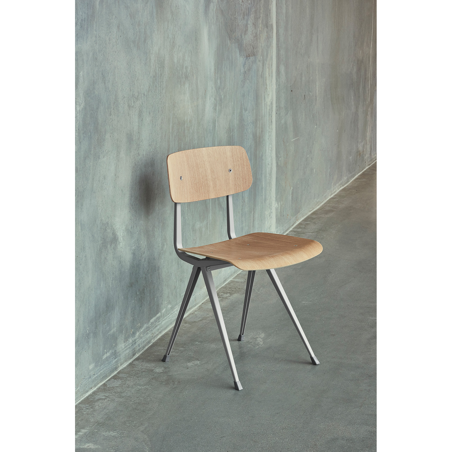 Result chair, beige/oak clear seat
