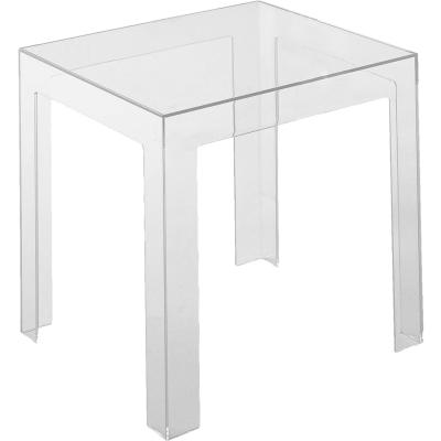 Jolly bord, transparent från kartell   køb møbler online på room21.dk