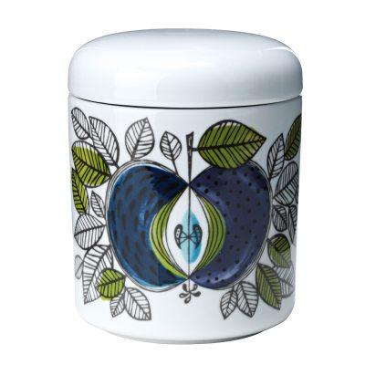 Eden krukke med låg fra Rörstrand, designet af Sigrid Richter. En smuk krukke i porcelæn med et unikt mønster som fanger øjet og fantasien.