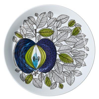 Eden tallerken fra Rörstrand, designet af Sigrid Richter. En smuk tallerken i porcelæn med et unikt mønster som fanger øjet og fantasien