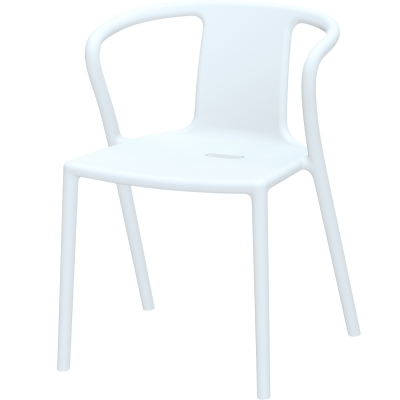 Air Armchair stol m. armlæn, pure white thumbnail
