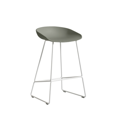 About a Stool 38 barstol h65, dusty green/hvid