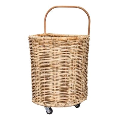 Bloomingville Basket kurvevognm natur/rotting