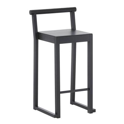 A2 Party barstol høj, sortbejdset