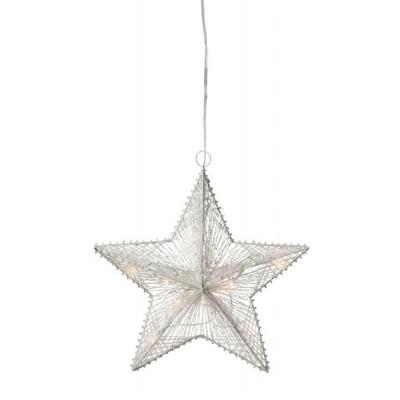 Gloria julestjerne 30 cm, hvid