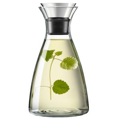 Karaffel drypfri fra Eva Solo er fremstillet i varmebestandigt glas og kan anvendes til både servering af vand og vin. Hældningstuden er drypfri. Låg erikke inkluderet.