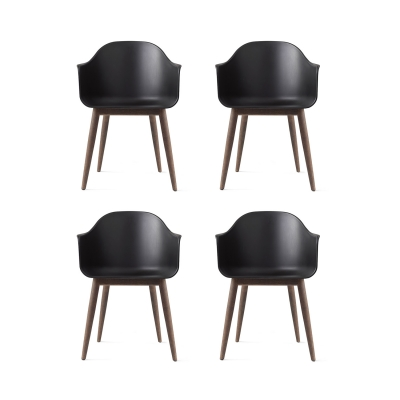 Harbour Chair 4-pack, sort/mørk eg i gruppen Møbler / Stole / Stole hos ROOM21.dk (1042423)
