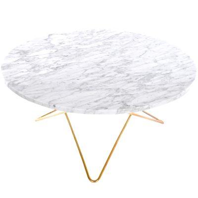 O sofabord, hvid marmor/messing – ox design – køb møbler online pÃ¥ ...