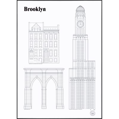 brooklyn-landmarks-plakat