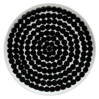 oiva-tallerken-20-cm-hvidsort