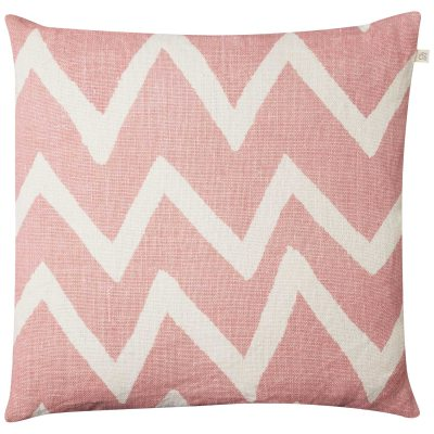 Zigzag Reverse pudebetræk M rosa/hvid