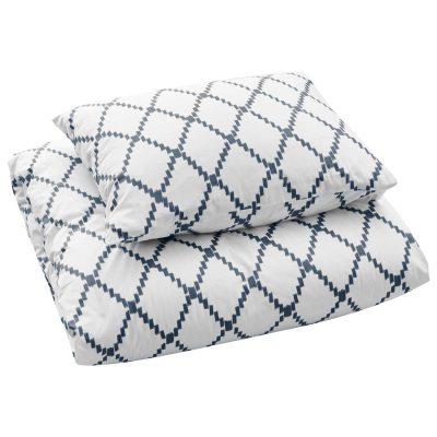 Ikat Kerala sengetøj enkel, blå thumbnail