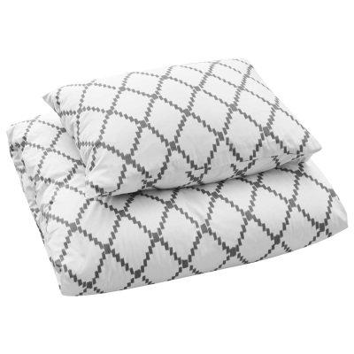 Ikat Kerala sengetøj enkel, grå thumbnail