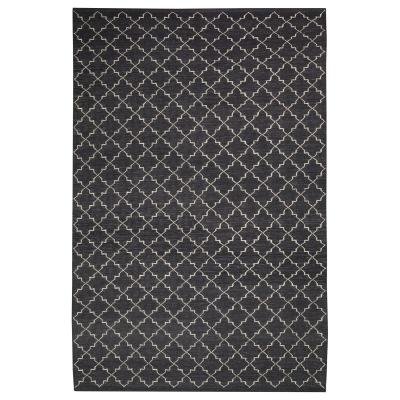 New Geometric tæppe grey/white