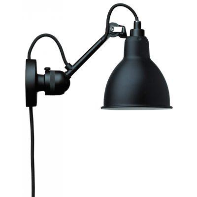 N304 væglampe med ledning sort