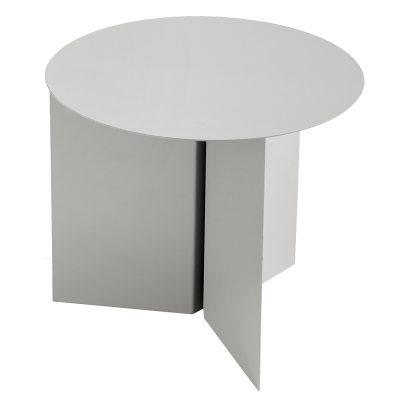 Slit Round bord grå