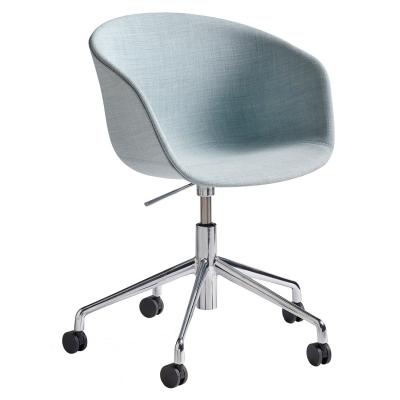 About a Chair 53 m. hjul, aluminiumsben/lysebl�