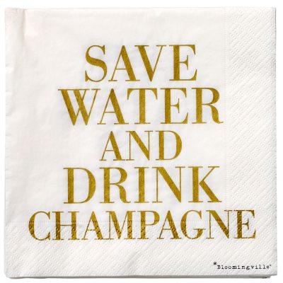 Save Water servietter, 20-pak