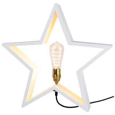 lysekil-stjerne-e27-hvid