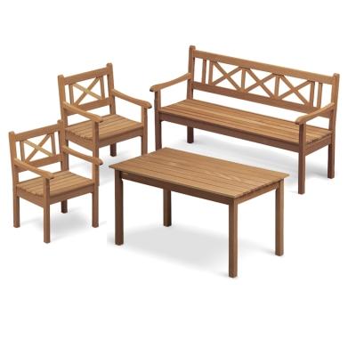 skagen teaksæt m. 2 stole, 1 sofa og 1 bord thumbnail
