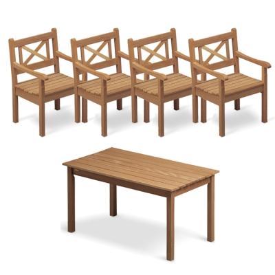 Skagen teakgruppe - 4 stole + 1 bord thumbnail