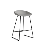 About a Stool 38 barstol h65, beton/sort