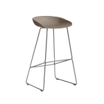 About a Stool 38 barstol h75, khaki/rustfrit
