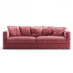 Le Grand Air 3-perssofa, Rosewood Linen