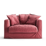Le Grand Air Loveseat, Rosewood Linen
