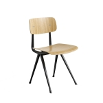 Result chair, black/oak clear seat