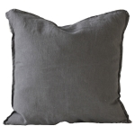 Washed Linen pude 50x50, dark grey