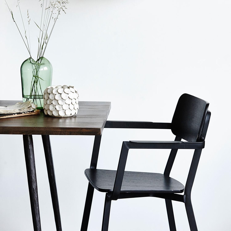Club spisebord 80x200cm, sortbejdset – House Doctor – Køb møbler ...