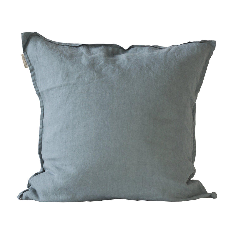 pudebetræk 65x65 Washed Linen pudebetræk 65x65, dusty blue – Tell Me More – Køb  pudebetræk 65x65