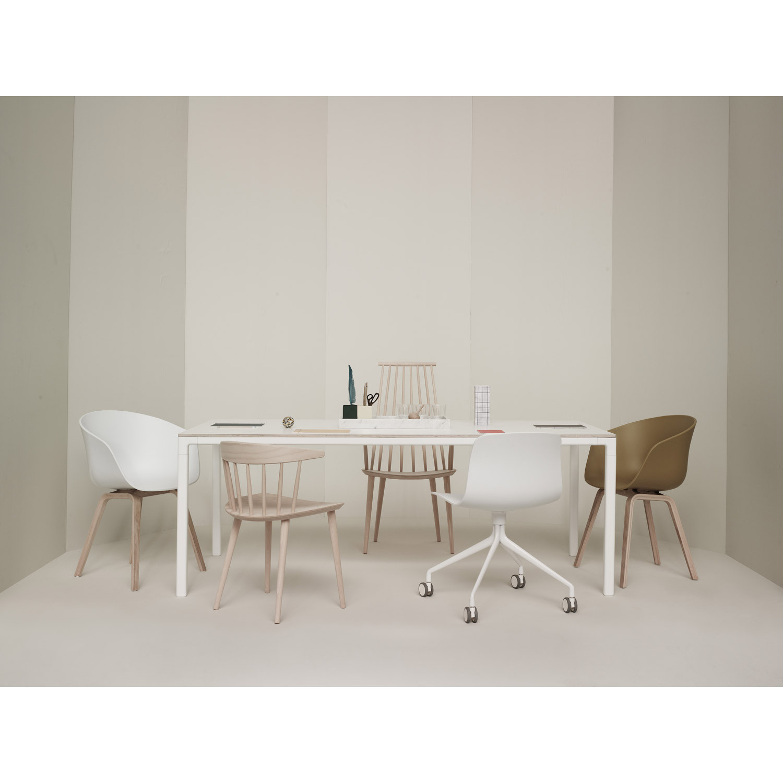 T12 Spisebord, 200x95, sort linoleum, lige kant från Hay - Køb ...