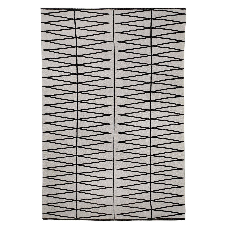 Spear tæppe, grÃ¥/sort – bloomingville – køb møbler online pÃ¥ room21.dk