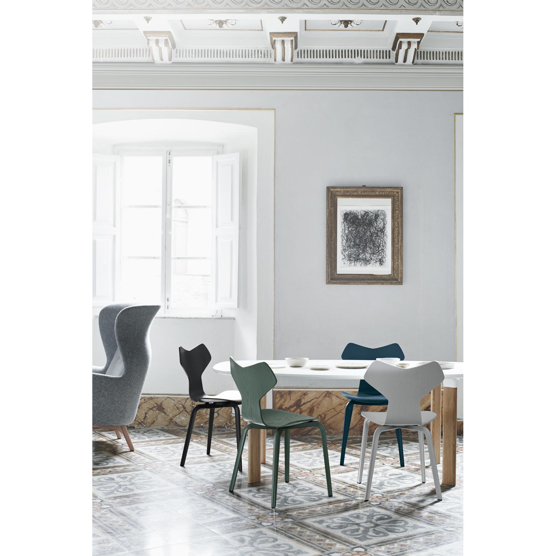 Ro lænestol, lysegrÃ¥/træben – fritz hansen – køb møbler online pÃ¥ ...
