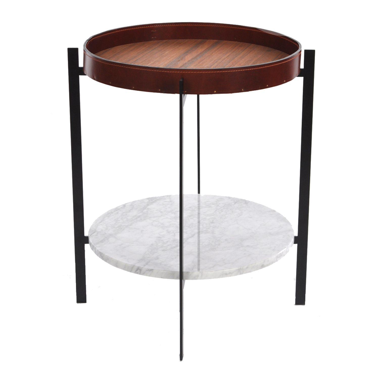 Deck sidebord, hvid marmor/teak – ox denmarq – køb møbler online ...