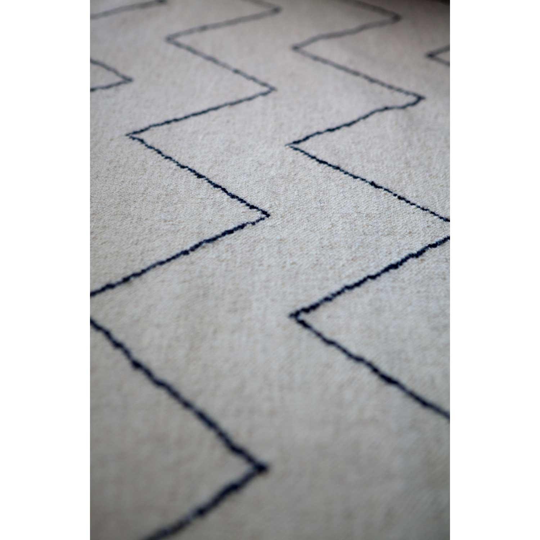 Zigzag tæppe, hvid/blÃ¥ – chhatwal & jonsson – køb møbler online pÃ¥ ...