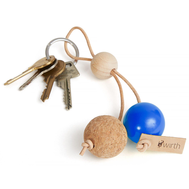 Key Sphere nøglering, blÃ¥ – by Wirth – Køb møbler online pÃ¥ ROOM21.dk