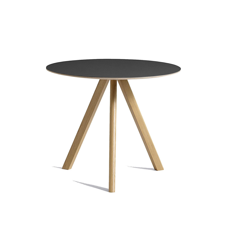 CPH 20 spisebord Ø90, egetræ/sort – Hay – Køb møbler online pÃ¥ ...