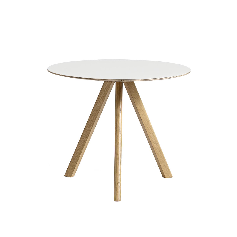 Cph 20 spisebord Ø90, egetræ/hvid – hay – køb møbler online pÃ¥ ...